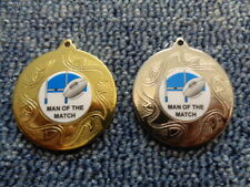 10 x Rugby Man of the Match Football Medals inc Red,White & Blue Ribbon