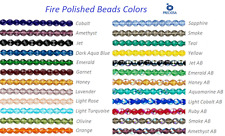 16 Inch Strand Preciosa Czech Fire Polished Glass Faceted Round Beads 10mm
