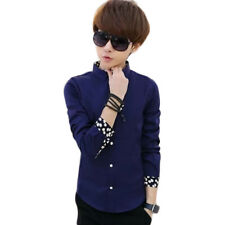 Slim fit Korean styles cotton shirt Men's Shirts Long sleeved Casual