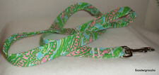 Lilly Pulitzer Chomp Chomp Fabric Dog Leash-S/M/L-MadeUSA- NEW