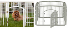 """Dog Playpen Exercise Cage Indoor Outdoor Pet Fence Cage Folding Panels 24""""H New"""