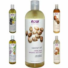 Now Foods Solutions Castor Oil Essential Oil Pure Organic Cold Pressed 16 fl oz