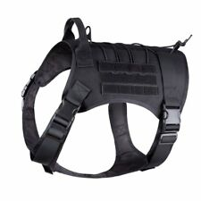Xtra-Large! Dog Harness w/ Handle Tactical K9 Working Cannie MOLLE Vest 2 colors