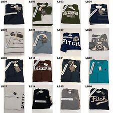 ABERCROMBIE & FITCH MENS CLASSIC GRAPHIC TEE LONG SLEEVE SIZE SMALL