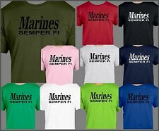 USMC, MARINES SEMPER FI T SHIRT, Military, USA, ARMED FORCES, LEATHERNECK RECON