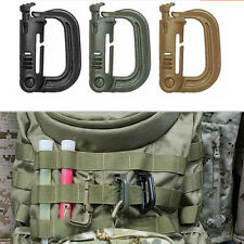 Tactical Grimloc Safety Safe Buckle MOLLE Locking D-ring Carabiner Climbing WF