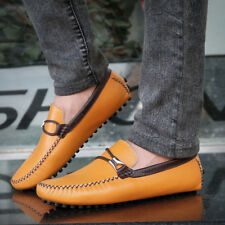 Men's Casual Party Shoes Oxfords Genuine Leather Driving Moccasins Shoes BE AV