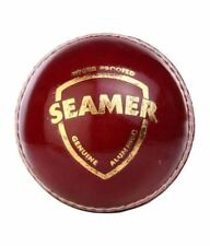 SG SEAMER Red 2 Piece GOOD QUALITY LEATHER Cricket Ball+ AUS Stock + FREE SHIP