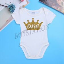 Infant Baby Boys Bowknot First Birthday Romper Christmas Photo Jumpsuit Clothing