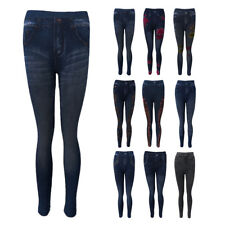 Ladies Women Skinny Jeggings Stretchy Pants Leggings Jeans Pencil Tight Trousers