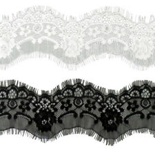 3 Yds Eyelash Lace Trim Ribbon DIY Accessory Floral Sewing Dress Home Decoration
