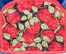 Quilted 2-4 Slice Toaster Cover Apples Made to Order SEND YOUR MEASUREMENTS!