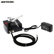 Dual Action Airbrush Air Compressor Kit Art Painting Tattoo Manicure Craft Cake