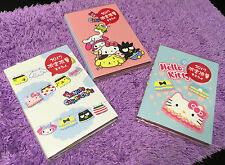 RARE! Sanrio Hello Kitty Melody Sticky Memo Note Pad Message Shopping List Book