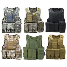 Military Combat Tratical Swat Airsoft Carrier Molle Vest Paintball Hunting Plate