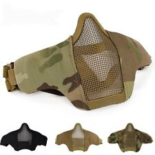 Mask Military Hunting Lower Half Net Face Tactical Protective AdjustableAirsoft