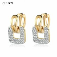 Unique Square Shaped Piercing Small Huggie Hoop Earring for Women Gold-color Ear