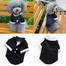 Pet Dog Cat Clothing Wedding Suit Formal Bow Tie Tuxedo Puppy Clothes Coat Tops