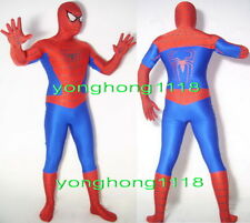 Red/Blue Lycra Spandex Spiderman Hero Catsuit Costumes Unisex Spider Suit Y055