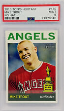 "MIKE TROUT ""NO HAT"" SHORT PRINT (PSA 9 MINT) 2013 Topps Heritage 430 Graded SP"