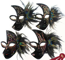 GOTHIC VENETIAN MASK - Peacock Feathers - MASQUERADE