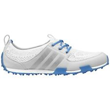 NEW WOMENS ADIDAS CLIMACOOL BALLERINA II GOLF SHOES WHT/BLUE Q46721 -PICK A SIZE