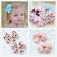 2pcs/lot baby girl hair bow flower children accessory baby barrettes hair access