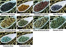 10g Picasso Matubo 7/0 Czech Glass Large Hole Seed Beads