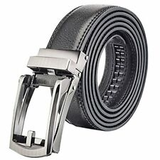 Men Genuine Leather Belt Adjustable Luxury Strap Belts With Automatic Buckle OG