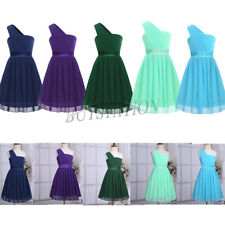 Girls Flower Pleated Chiffon One Shoulder Dress Pageant Princess Pageant Wedding
