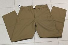 GAP KHAKI PANTS MENS RELAXED CREAM CARAMEL COLOR SIZE 31x34 ZIP FLY NEW WITH TAG
