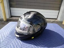 "SNOWMOBILE HELMET BLACK WITH ELECTRIC SHIELD & ""SVS"" SUN VISOR SYSTEM LG PRIMO"