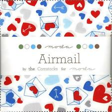 Airmail Charm Pack from Moda, 42 5-inch Precut Squares 37100PP
