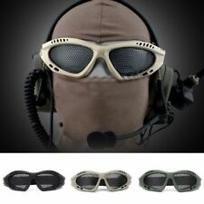 Unisex Tactical Mesh Eyes Protection Goggle Glasses Airsoft Paintball CS Fashion