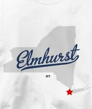 Elmhurst, Queens County, New York NY MAP Souvenir T Shirt All Sizes & Colors