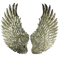 Embroidered iron on patches for clothes Wings design sequins Motif Applique AU、