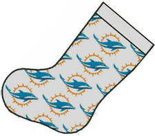 Cross stitch chart, Pattern, Miami Dolphins, NFL, Christmas Stocking, xmas