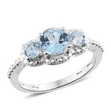 Sky Blue Topaz Sterling Silver 3 Stone Ring  TGW 2.00 cts.