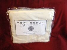 Martha Stewart Collection Trouseau King Bed Skirt Beige 100% CT Retail $175.00