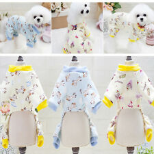 Warm Dog Jumpsuit Pet Clothes Coat Pajamas For Chihuahua Teacup Yorkie Maltese #