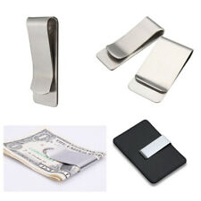 Slim Stainless Steel Money Clip Pocket Wallet Credit Card Holder