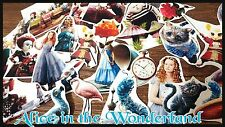 Alice in the wonderland,Tea Party,Die-Cut,ephemera Paper,Scrapbook Decoupage