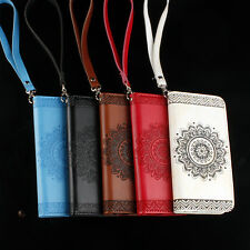 Relief Flower Flip Wallet Magnetic Leather Case Cover For iPhone 6 7 7P 8Plus X