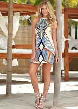 Women Summer New Fashion Multi Color Printed Sleeveless Stylish Mini Dress