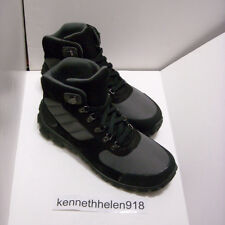 POLO RALPH LAUREN HERRIK HIKER SUEDE BOOTS SHOES BLACK CHARCOAL GREY MENS SZ 9D