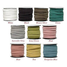 faux suede flat cord 10x1.5mm, flat cord 10x1.5mm faux suede 1,3 yard section