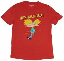 Hey Arnold! (Nickelodeon) Mens T-Shirt - Chilling Arnold Under Logo Image