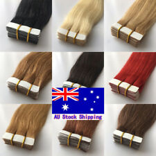 Tape In Seamless Skin Weft Real Remy Human Hair Extensions 20/60Pcs16InchAuStock