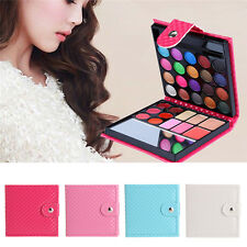 32 Color Women Shimmer Eyeshadow Eye Shadow Palette Makeup Cosmetic Brush Set