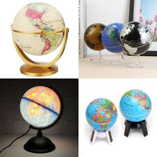 10.5-32cm Vintage World Globe Map Rotating Home Room Office Desk Decor Gift